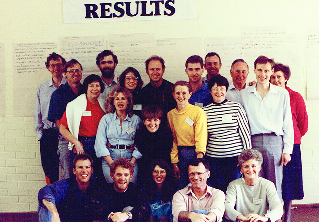 RESULTS National Conference - sometime in the 1980's...