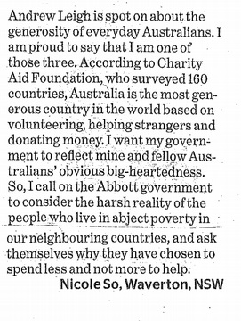 Canberra Times Nicole So 2014.10.10