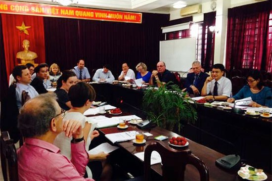 Day 1 with Australian Parliamentarians and the Global Fund in Vietnam, briefed on great progress on TB, malaria and HIV/AIDS