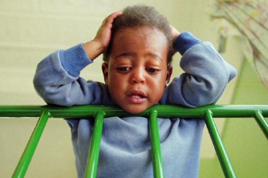 HIV infected toddler