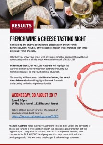 French Wine & Cheese Tasting Night Invite