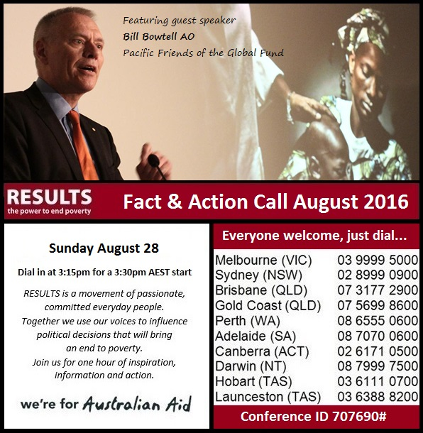 Join the Fact & Action Call Sunday August 28 at 3:30pm AEST  Join the call by diallingthe phone number for your closest city listed below, then enteringconference ID707690# Melbourne03 9999 5000 |Sydney02 8999 0900 | Brisbane07 3177 2900 | Gold Coast07 5699 8600 | Perth08 6555 0600 |Adelaide08 7070 0600 |Canberra02 6171 0500 |Darwin08 7999 7500 |Hobart03 6111 0700 |Launceston03 6388 8200