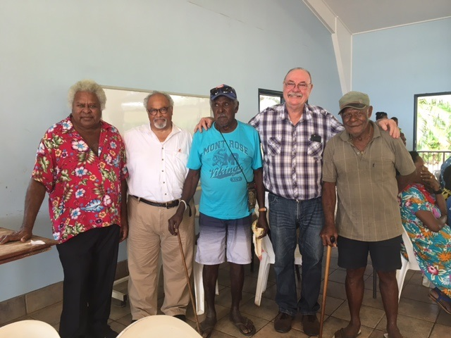 Dr Eric Goosby and Warren Entsch MP, meeting with community leaders and representatives on Saibai