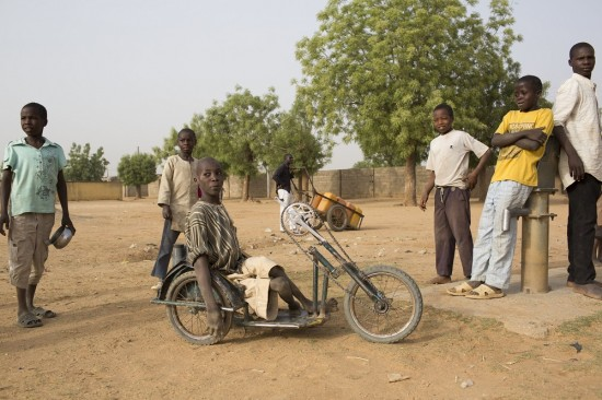 wheelchair bike in Ungogo village