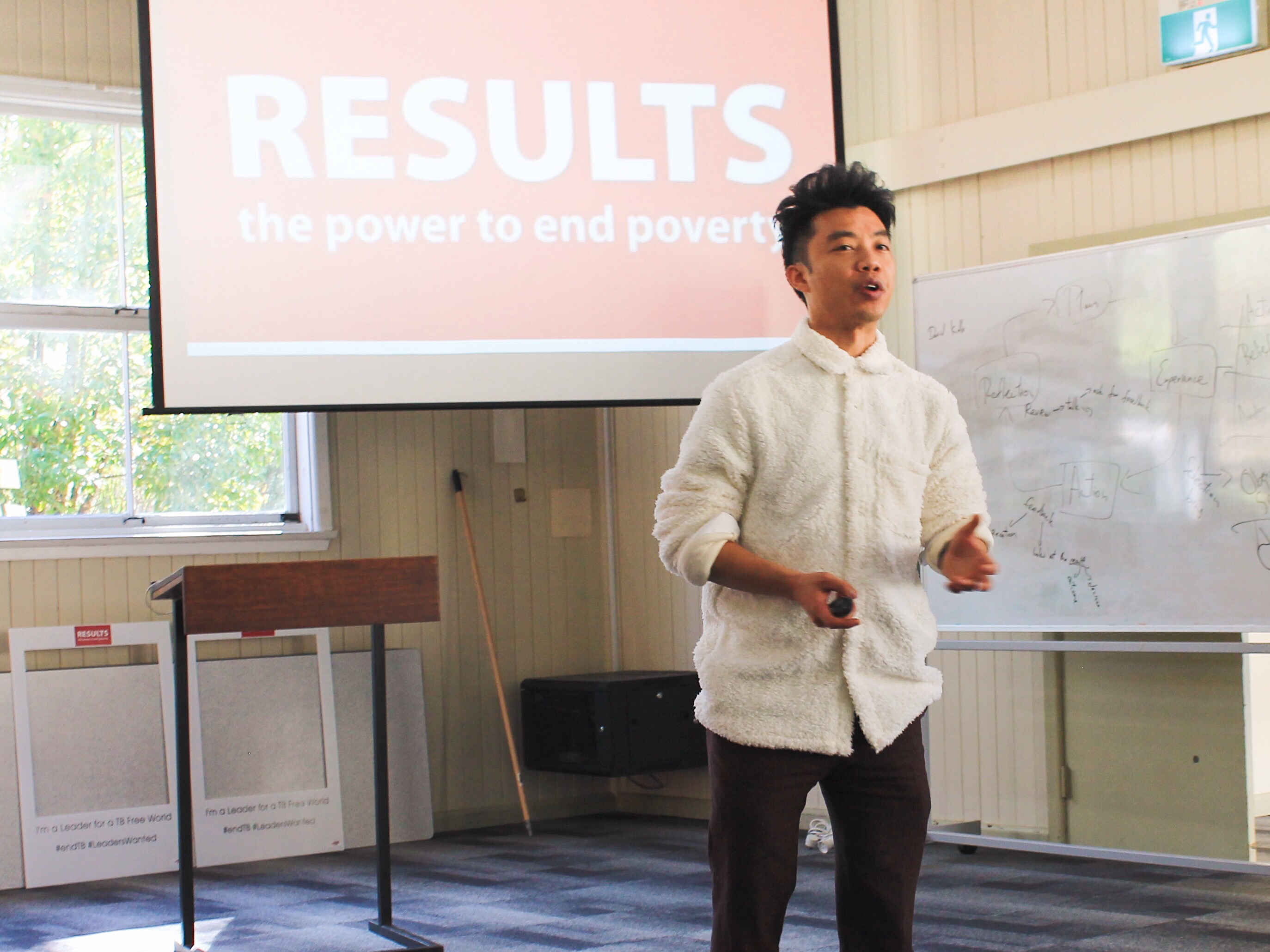 Ricky Keung presenting at the RESULTS 2018 retreat