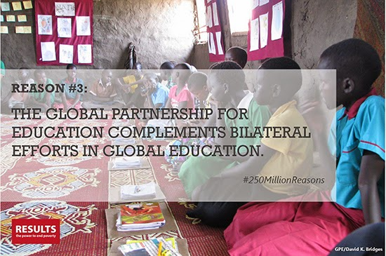 Reason #3: The GPE complements bilateral efforts in global education