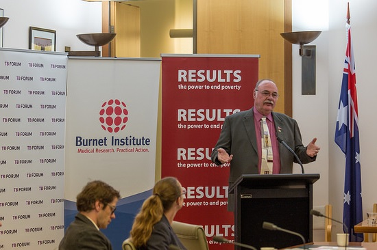 Warren Entsch speaking at the launch of the Australian TB Caucus