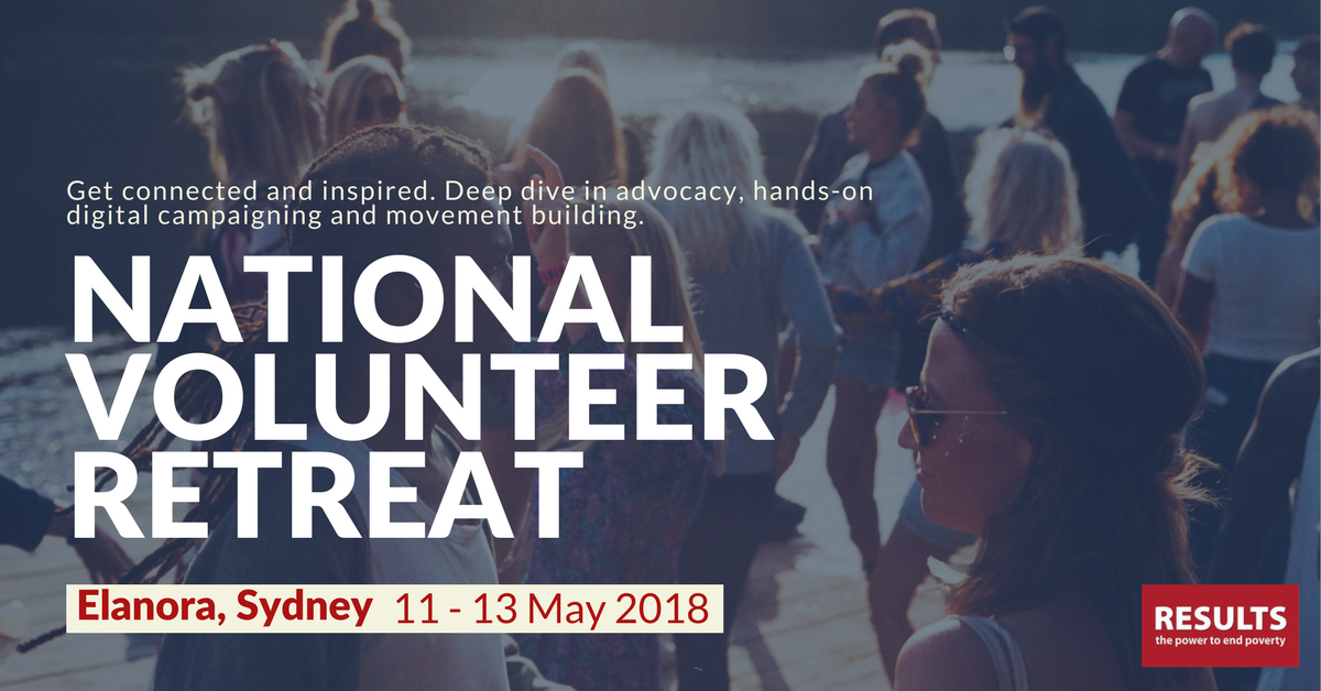 RESULTS National Volunteer Retreat 11-13 May, 2018