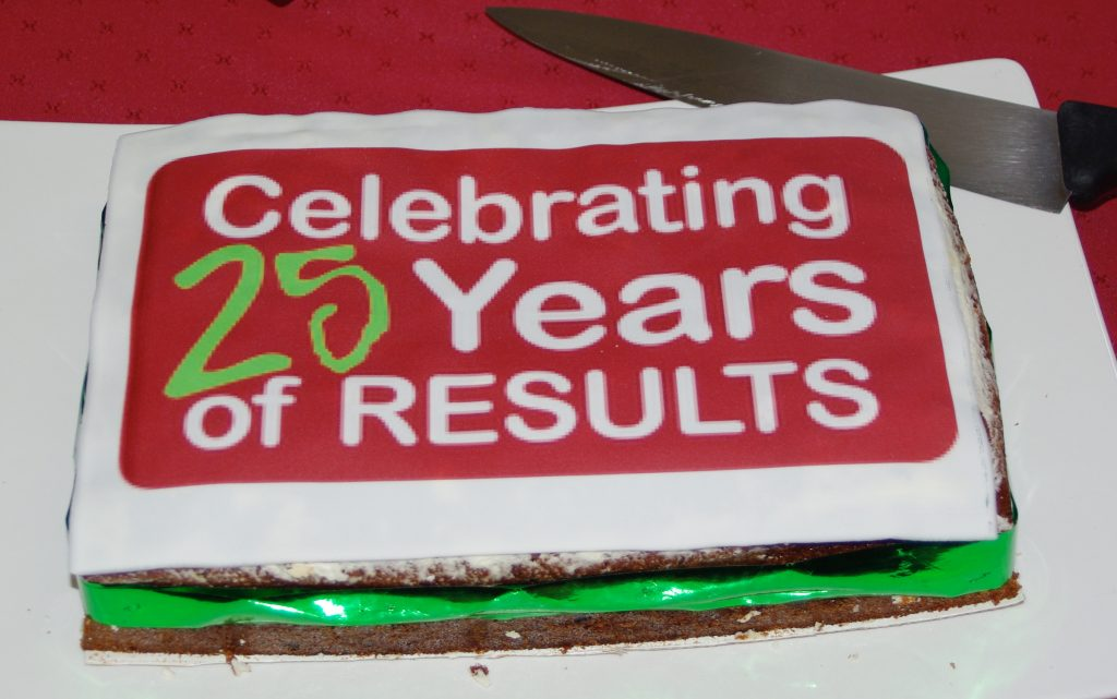 25 Years! of RESULTS Cake