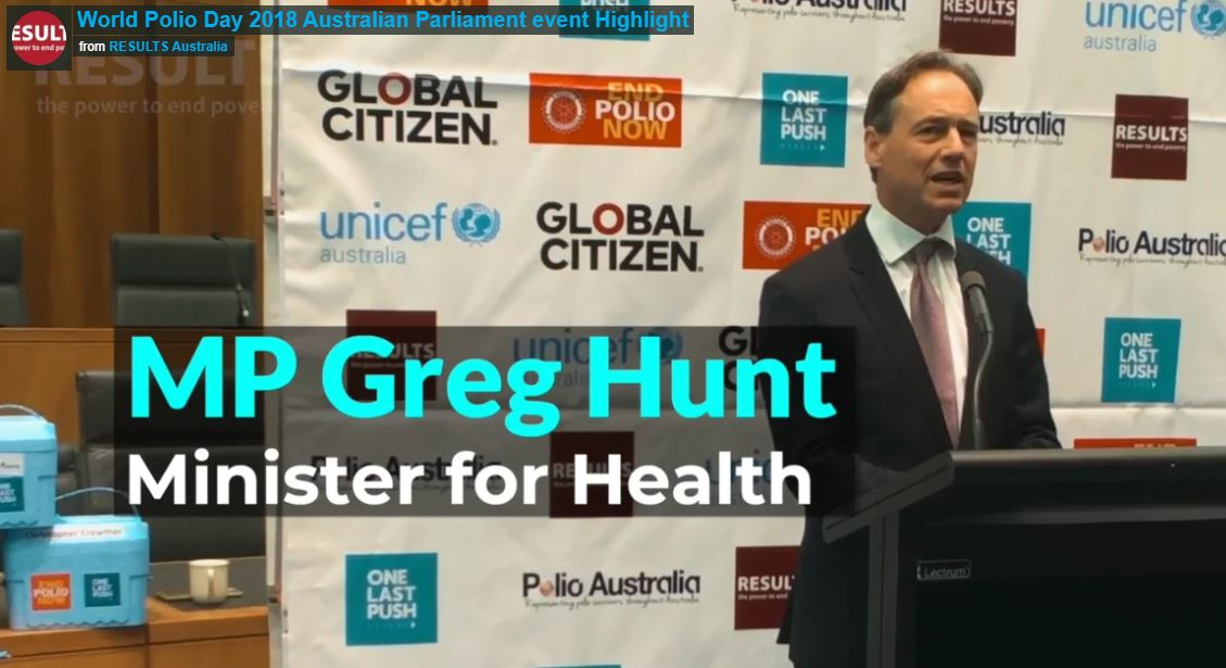 Hon Greg Hunt, MP, Minister for Health