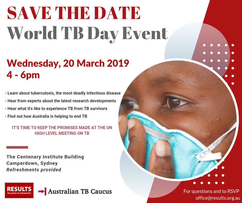 Save The Date – World TB Day Event