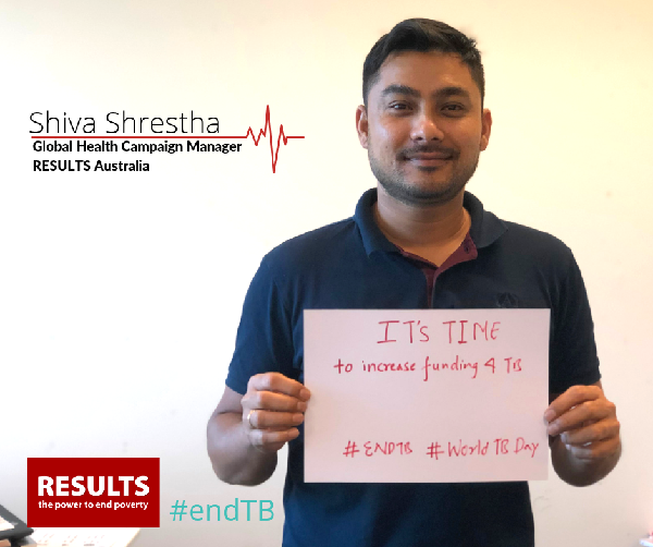 Shiva Shreshta, Global Campaign Manager, RESULTS Australia