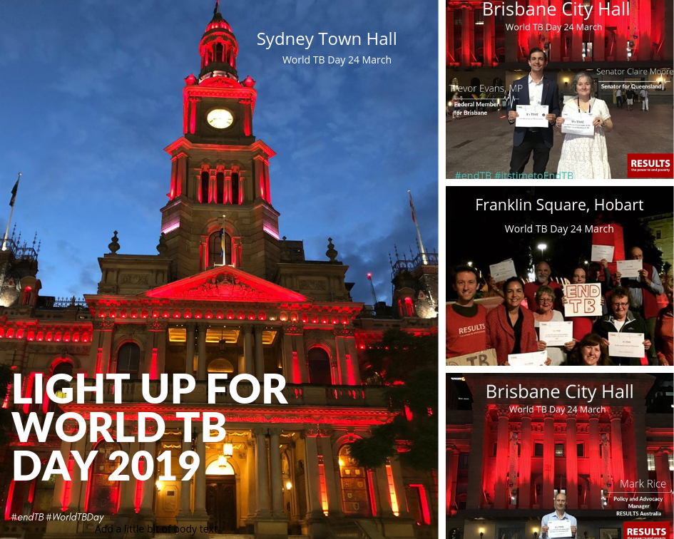 Australian landmarks lit red in honour of World TB Day
