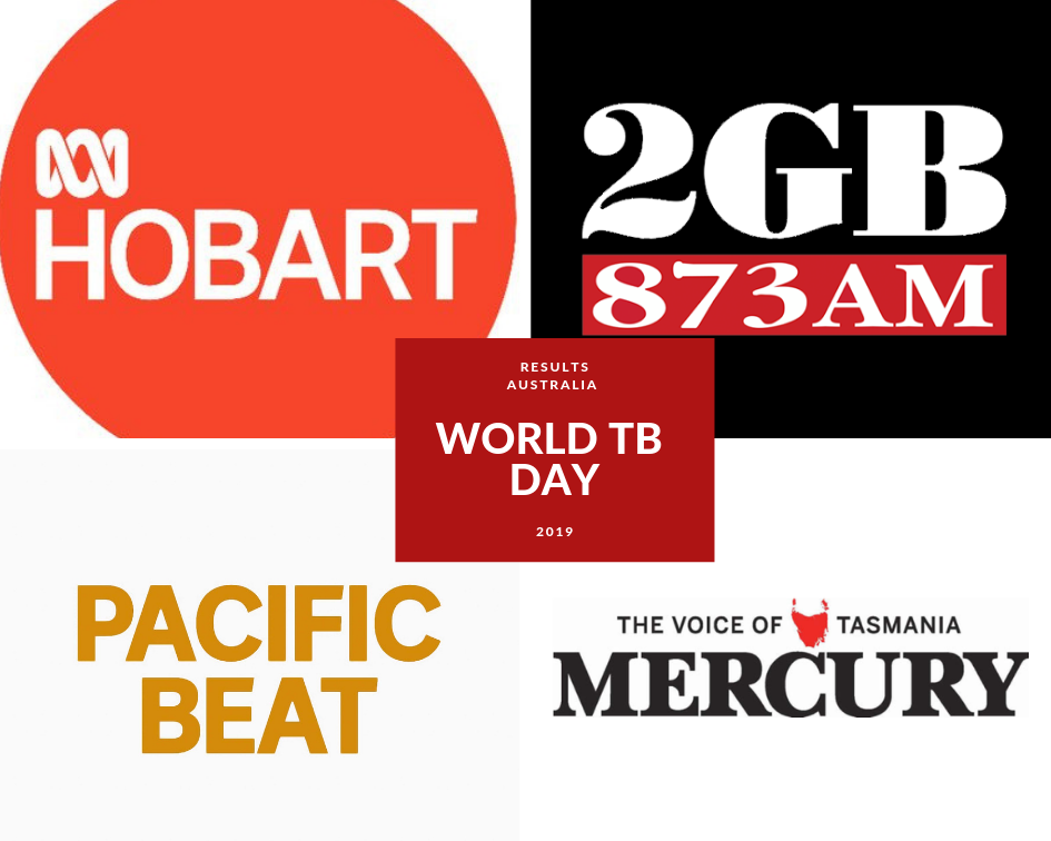 Media logos for coverage of World TB Day 2019
