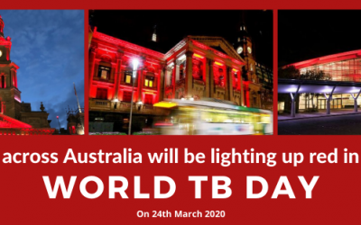 Councils Around Australia Show their Support by Lighting Up Red for World TB Day