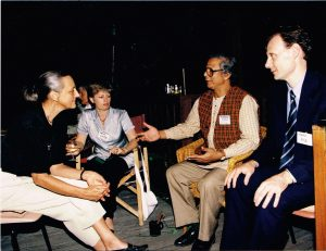 From 1997, Results very own Policy & Advocacy Manager - Mark Rice! He sits with Nobel Laureate & founder of The Grameen Bank, Dr Muhammad Yunus, at an engagement (National Press Club) in Canberra.